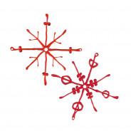Ozdoba dekoracja świąteczna 2 szt. czerwone FLAKES