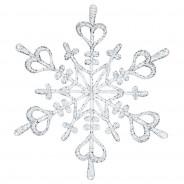 Ozdoba dekoracja świąteczna srebrna FLAKE L