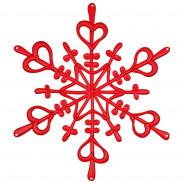 Ozdoba dekoracja świąteczna czerwona FLAKE L