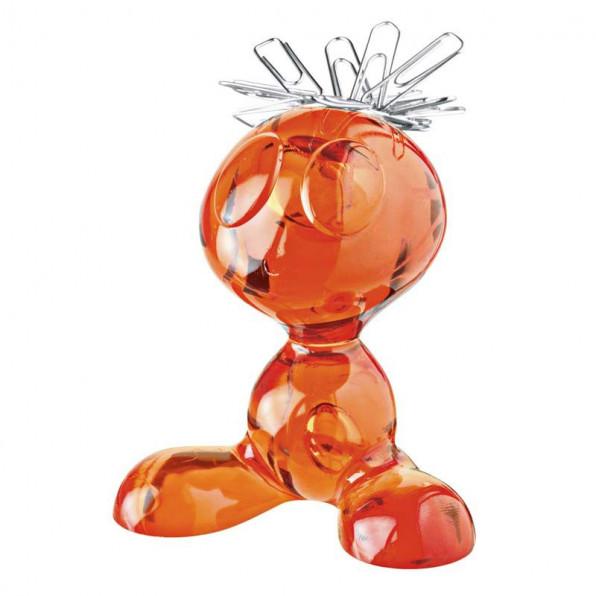 Stojak na spinacze biurowe pomarańczowy Curly